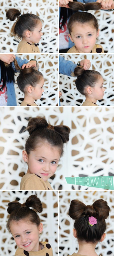 Bow-Bun-Little-Girl-Hairstyles